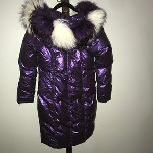 Blessedly duck down puffer jacket with fox fur